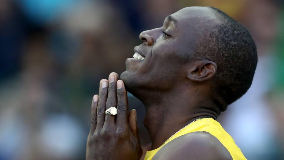 Usain Bolt en la prueba de 100 m. en los Juegos de Río.