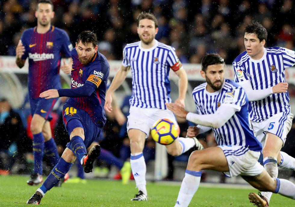 El Barcelona remonta a la Real Sociedad y supera el síndrome de Anoeta con un 2 a 4