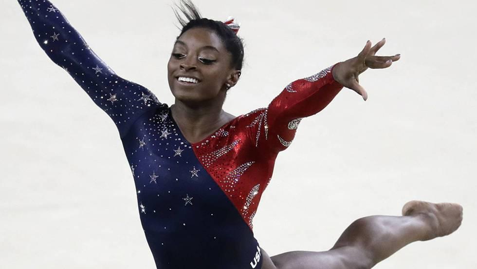 Simone Biles durante los Juegos Olímpicos de Río 2016.