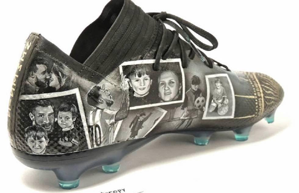 c05fbde6 Lilian Cantero: La artista paraguaya que dibuja botas para Leo Messi ...