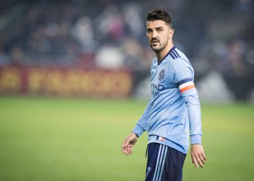 David Villa homenajea a Quini en la MLS