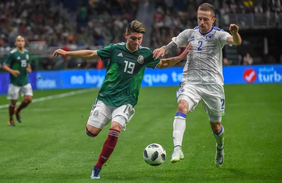 González, durante un amistoso contra Bosnia.
