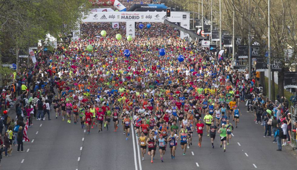37.000 corredores participan en el maratón de Madrid en el que dominan los kenianos   Deportes   EL PAÍS