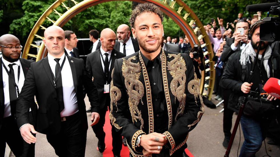 Neymar en la gala de la Ligue 1.