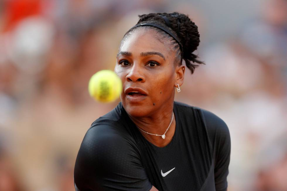 Serena Williams, durante un partido reciente en Roland Garros.