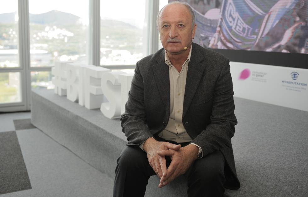 Luiz Felipe Scolari, en el Bilbao International Football Summit.