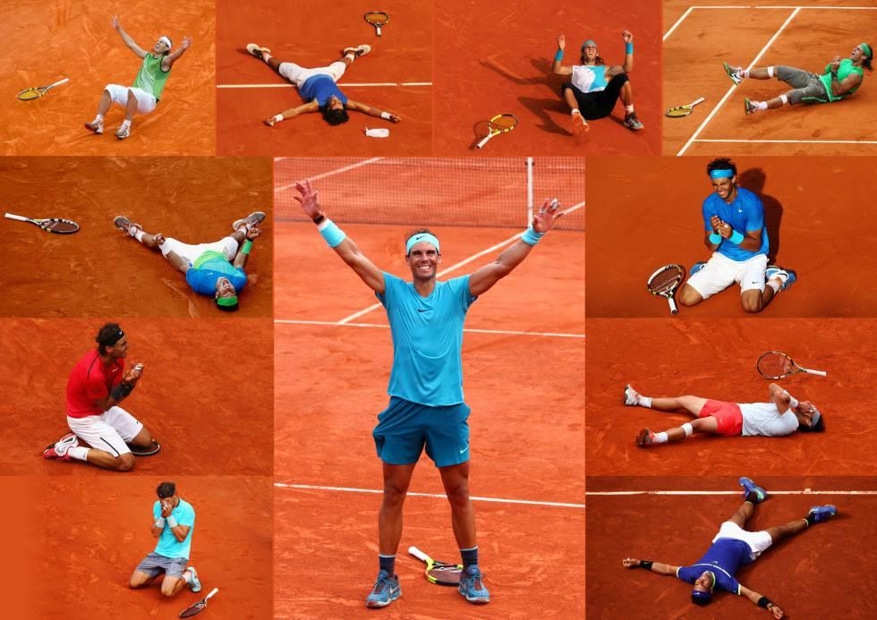 Nadal, celebrando sus 11 títulos en Roland Garros.