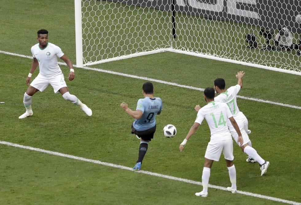 Uruguay vencio 1-0 a Arabia Saudita