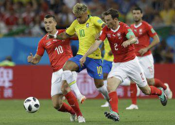 Brasil-Suiza: Mientras aguantó Coutinho