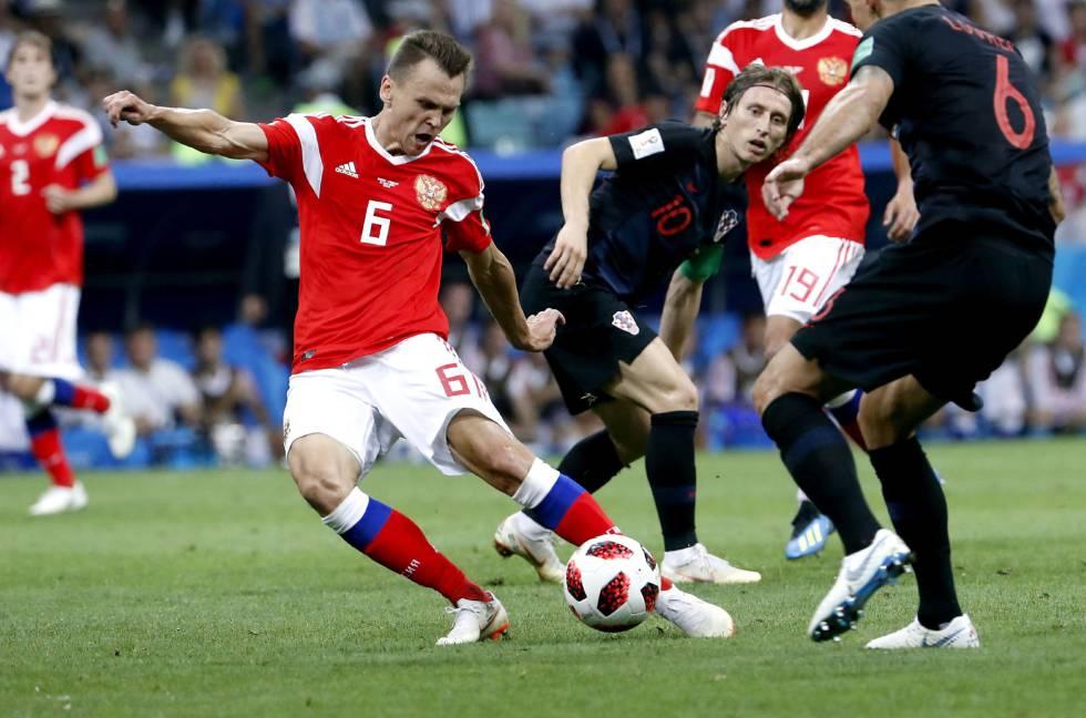205f83aabfbc3 Rusia se enfrenta a Croacia en el partido de cuartos del Mundial de Rusia  SHAWN THEW EFE