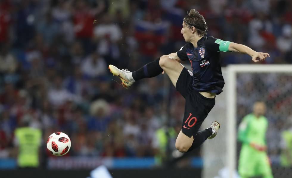 Modric, en el partido contra Rusia.