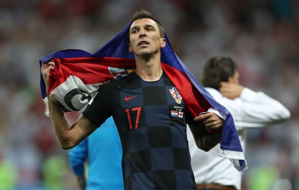 Mandzukic comemora a classificação da Croácia à final da Copa.