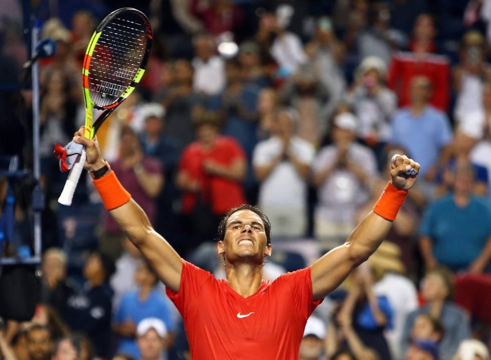 Rafael Nadal celebra su victoria sobre Karen Khachanov, en Toronto (Canadá).