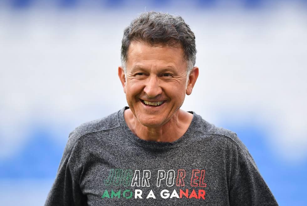 Osorio, en un entrenamiento del Mundial.
