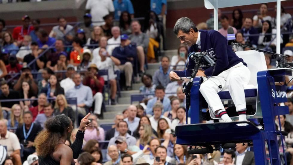 Serena Williams recrimina ao árbitro Ramos no final de Nova York / Em vídeo, o momento no que Serena Williams se enfrenta ao árbitro