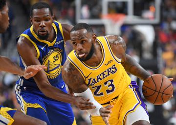 LeBron y los Lakers agitan el imperio de los Warriors