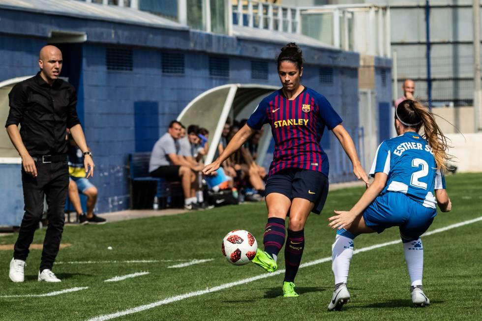 Marta Torrejn en el ltimo derbi cataln ante el Espanyol