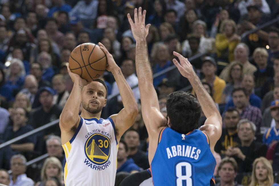 9b61b99cdf9 Stephen Curry y Kevin Durant abren el nuevo curso de Golden State Warriors  en plan estelar