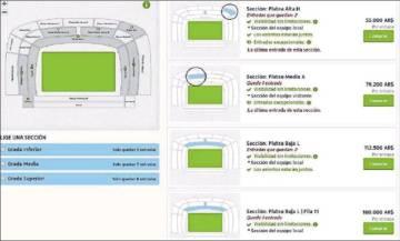 Un sitio de reventa ofrece boletos para el Boca River por hasta 180.00 pesos (4.900 dólares).