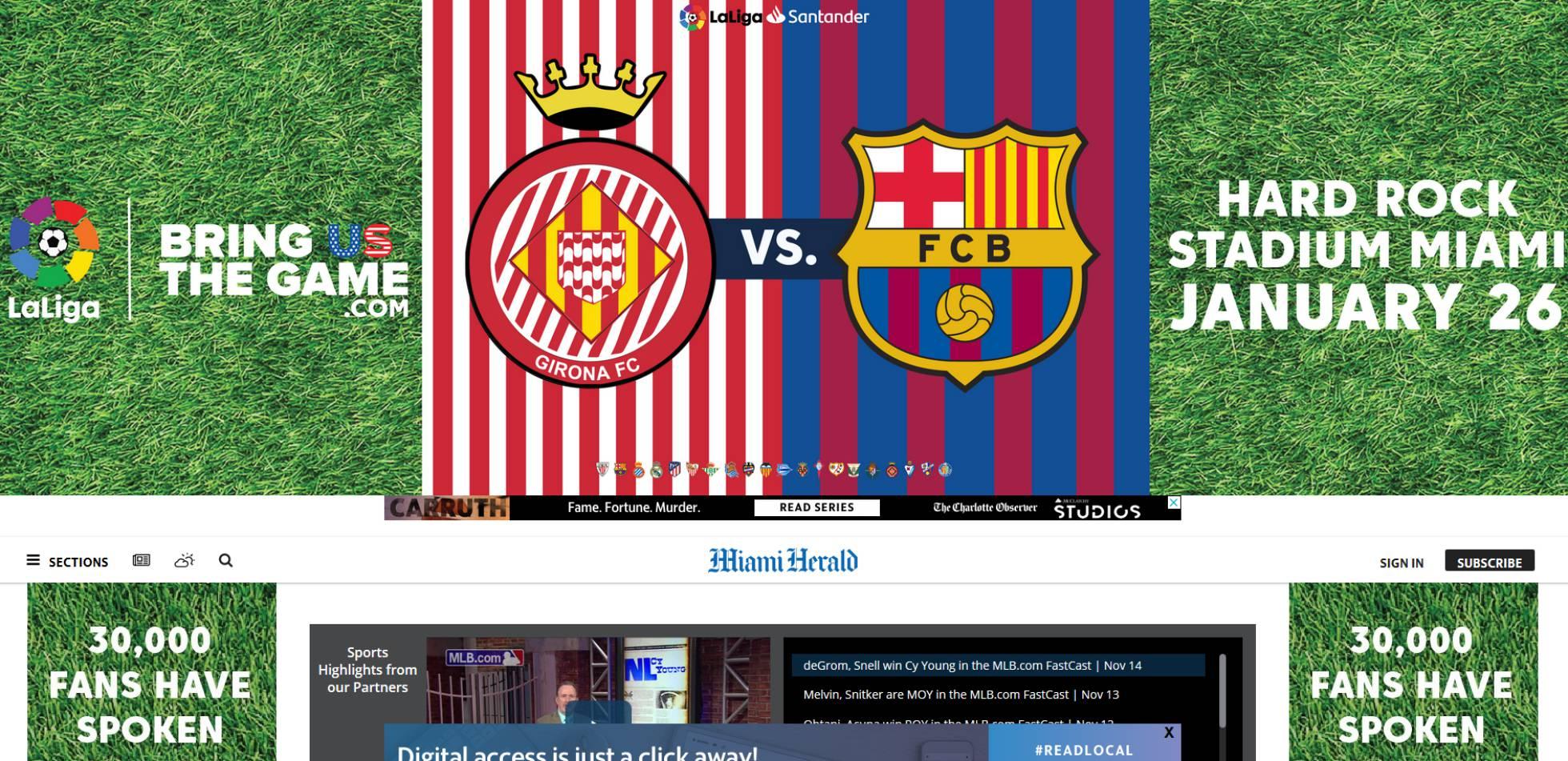 LaLiga promociona el Girona-Barça en Miami a pesar de la prohibición de la FIFA