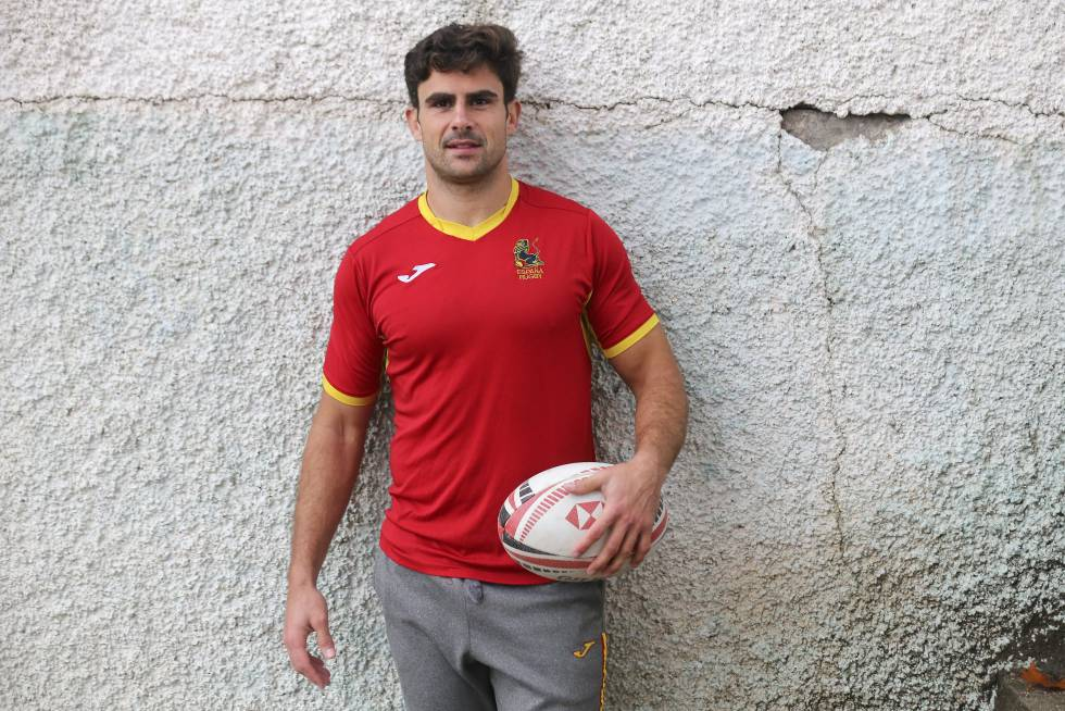 Paco Hernánez, capitán del equipo masculino de rugby a siete.
