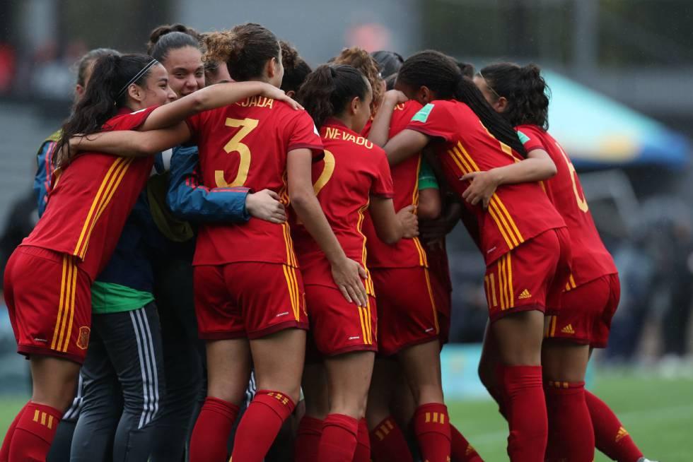 Las jugadoras españolas celebran un gol ante Nueva Zelanda.