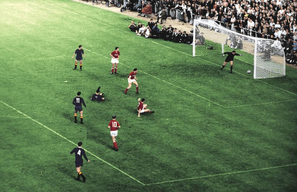 La final de la Eurocopa de 1964 entre España y la URSS.