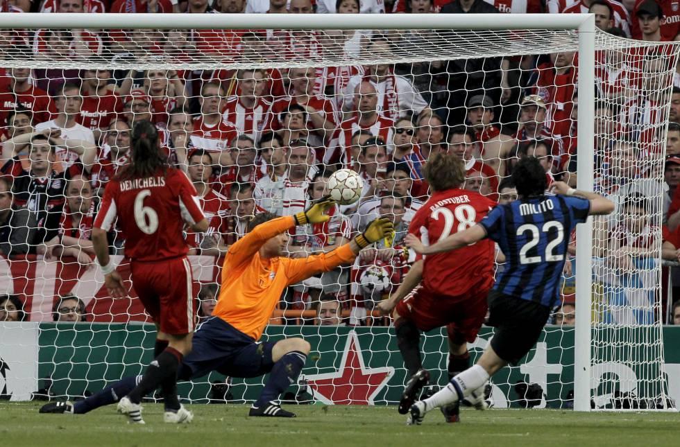 La final de la Champions de 2010 que ganó el Inter al Bayern.