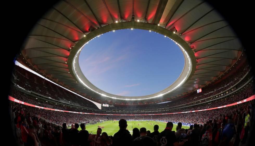Estadio Wanda Metropilitano, en Madrid.