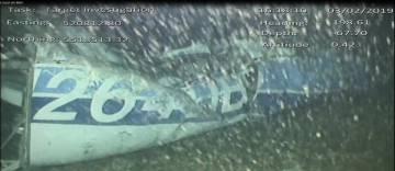 Los restos del avión en el que viajaban Emiliano Sala y el piloto.