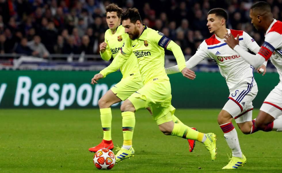 El Barcelona Empata Ante El Olympique De Lyon Deportes