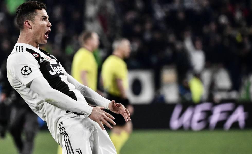 Cristiano Ronaldo, tras confirmarse la remontada de la Juventus ante el Atlético de Madrid en Turín. rn