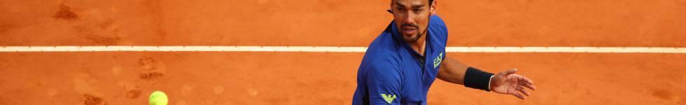 Fognini, durante el partido de semifinales contra Nadal.