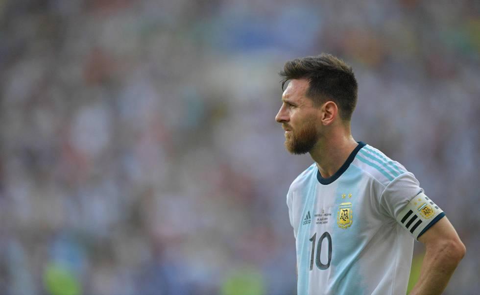 Messi, no último duelo da Argentina contra a Venezuela em Maracanã.