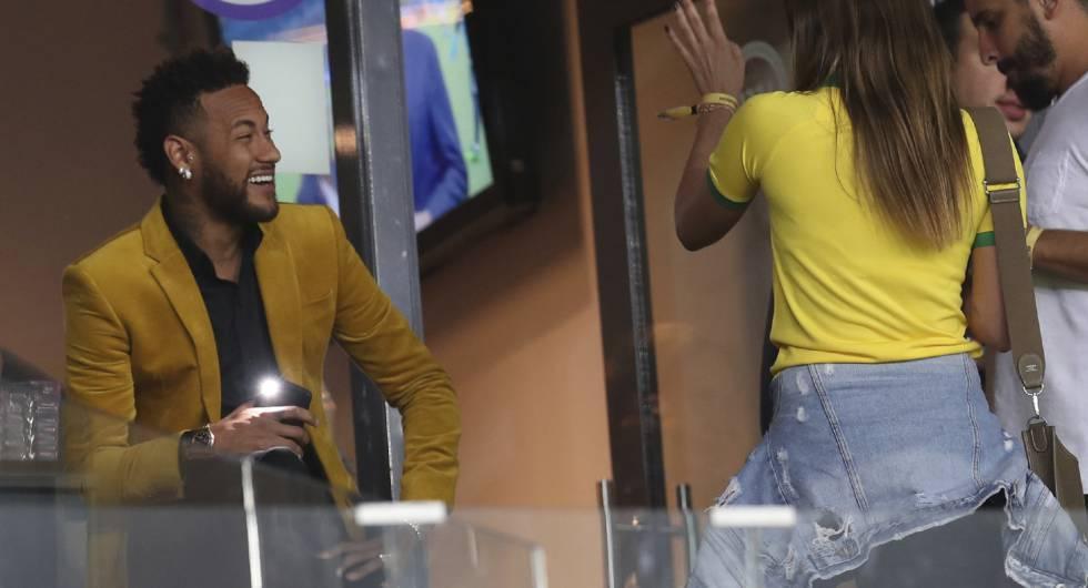 Neymar en Belo Horizonte durante la Copa América.