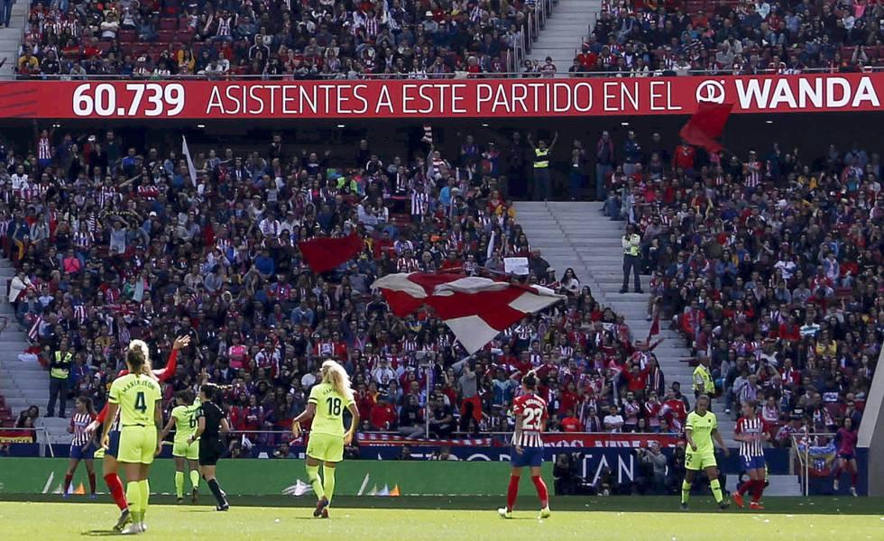 60.739 espectadores en el Atlético-Barcelona, el pasado marzo.
