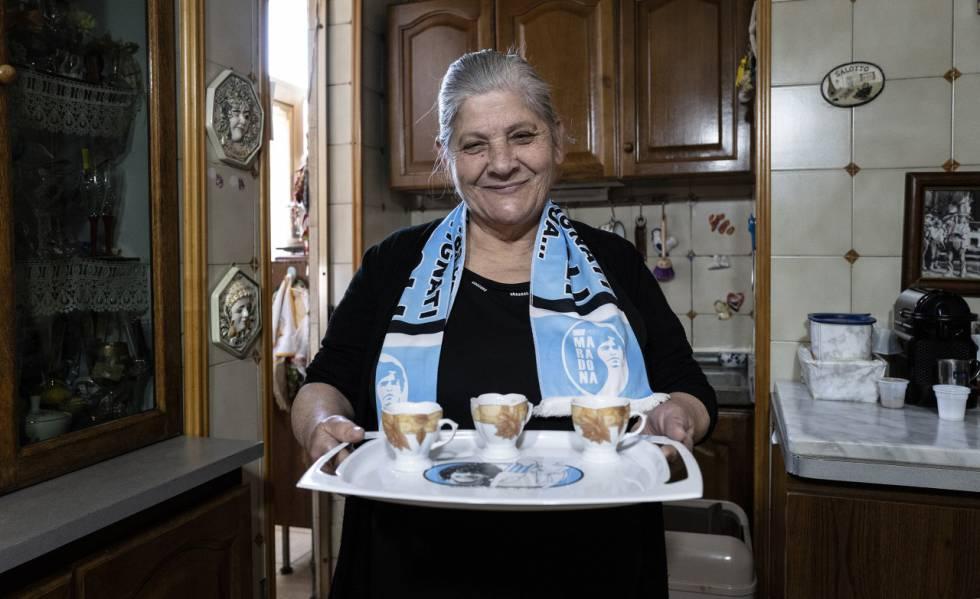 Lucia Rispoli, la cocinera y ama de llaves de Maradona durante su etapa en Nápoles.
