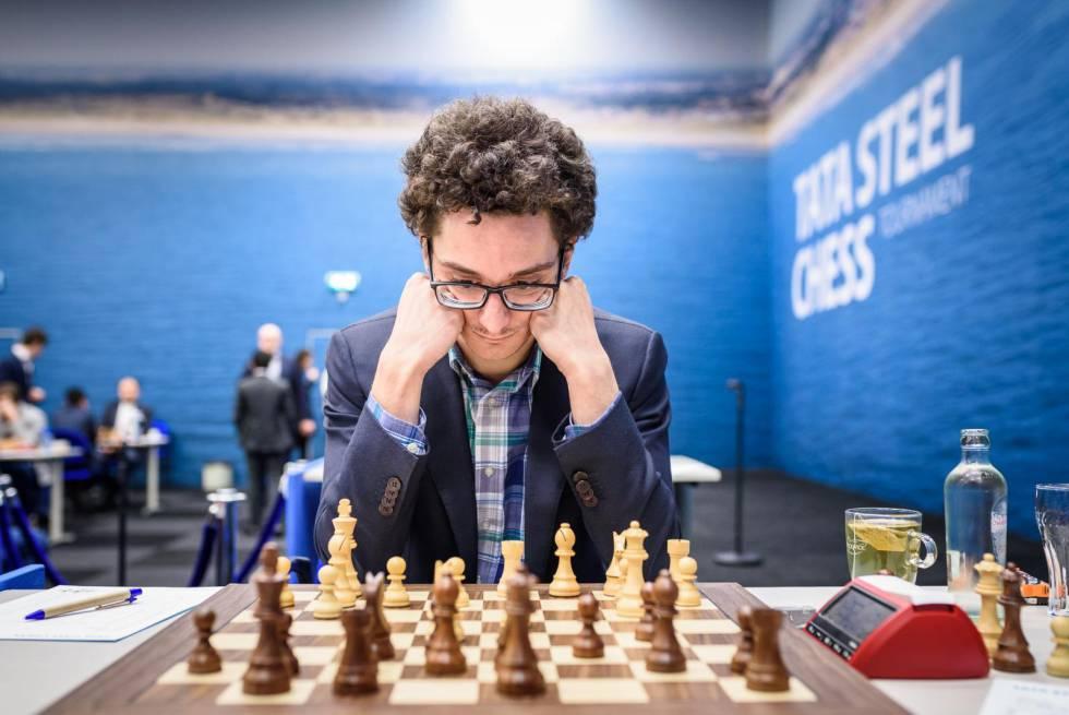 Fabiano Caruana, el pasado enero durante el Festival Tata en Wijk aan Zee (Países Bajos)