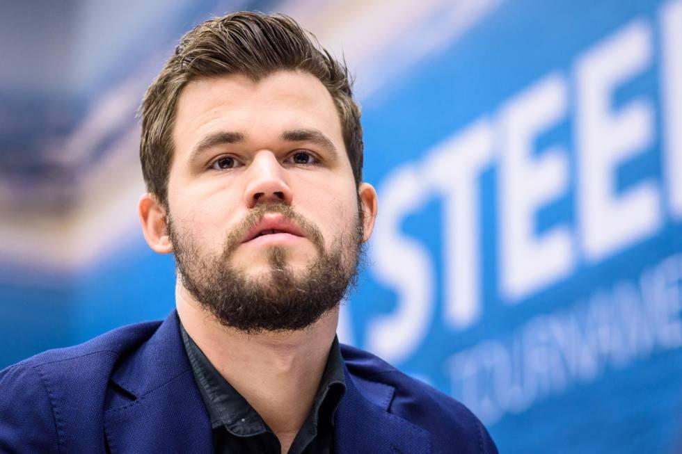 Magnus Carlsen, el pasado enero, durante el Festival Tata en Wijk aan Zee (Países Bajos)