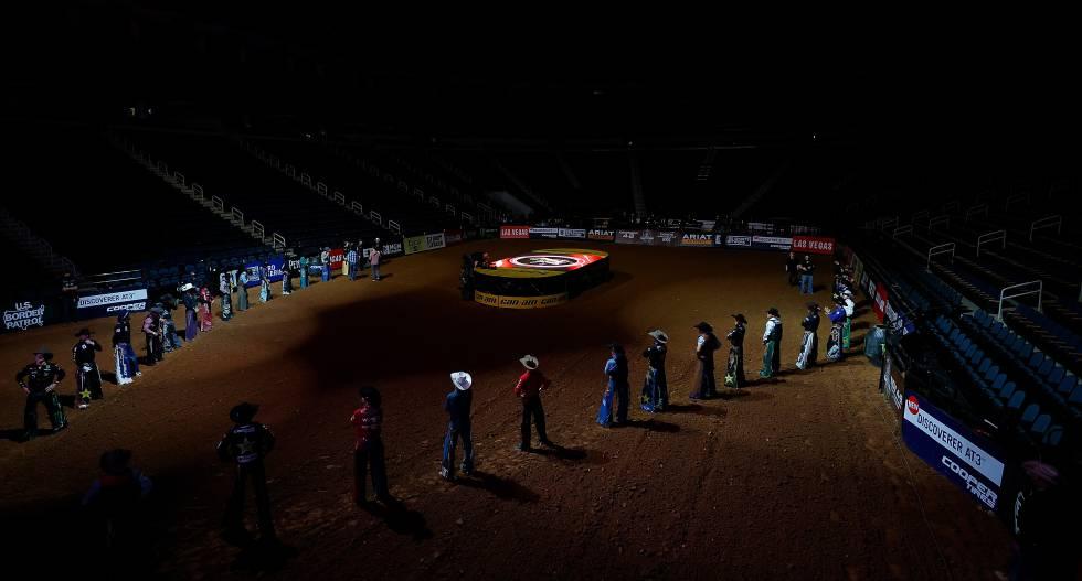 Uno de los últimos eventos de Professional Bull Riders en Georgia (Estados Unidos), a puerta cerrada, el pasado 15 de marzo.