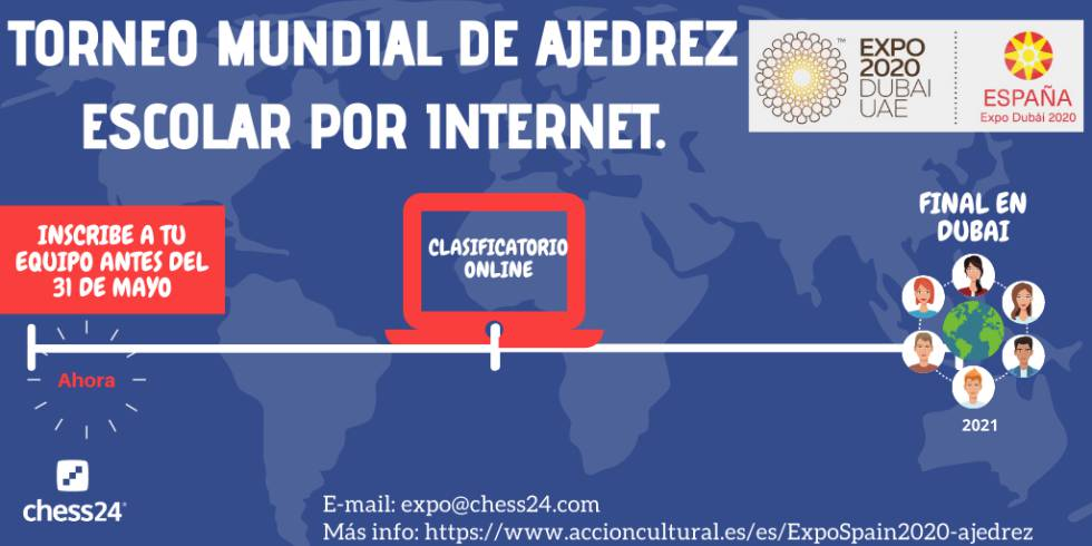 España refuerza el Torneo Mundial de Ajedrez Escolar Expo Universal Dubái 2020