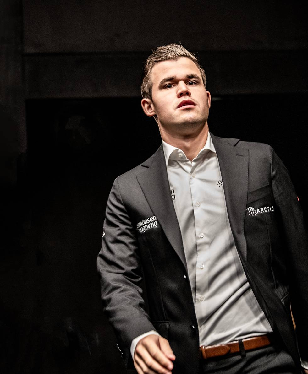 Magnus Carlsen, durante el Mundial de Londres, en 2018