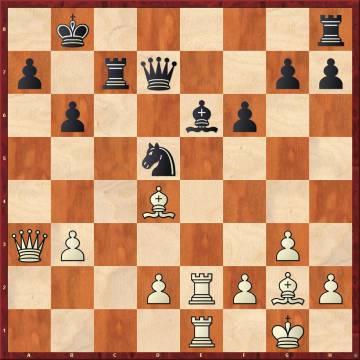 Nakamura erró con 22 ...Ah3, y la elegante réplica de Carlsen, 23 Axb6 (combinada con 24 Te7), le dio una gran ventaja, que no pudo aprovechar por la presión del reloj