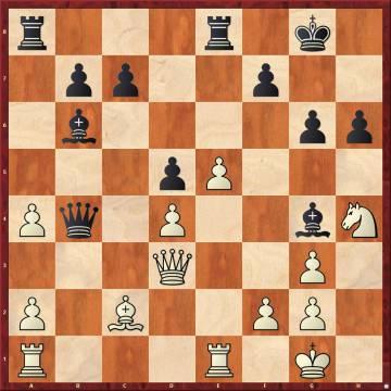 Db4 fue un error de Nakamura, castigado por Carlsen muy brillantemente: 24 Cxg6 Dxd4 25 Ce7+ Rf8 26 Cxd5 Dxf2+ 27 Rh2 Tad8 28 Tf1 Txe5 29 Txf2 Tdxd5 30 Txf7+ , con ataque ganador