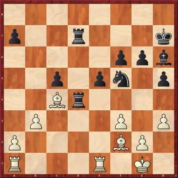 En la seguinda partida relámpago, el golpe de Nakamura 30 ...Ad2 hundió a Carlsen en una larga reflexión, que terminó llevándole a la derrota