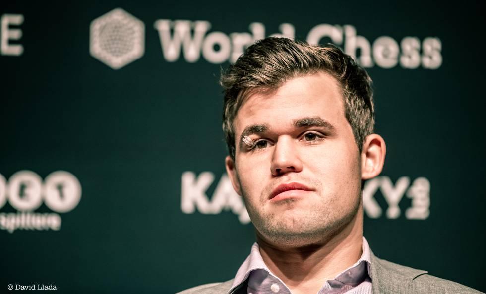Magnus Carlsen, durante el Mundial de Londres de 2018