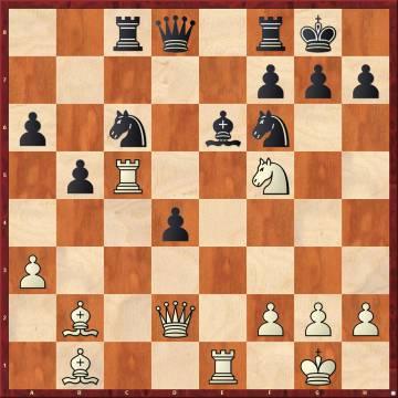Punto culminante de la primera partida de la sexta manga. Carlsen incendia el tablero con Cxg7!!