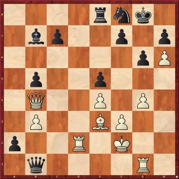 Nakamura ganó la 3ª partida, e igualó el marcador, con 29 Dc3! Ta8 30 Txb1 axb1=D 31 Dxe5, y Carlsen abandonó en vista de 31 ..Ce6 32 Ad4, con mate inevitable