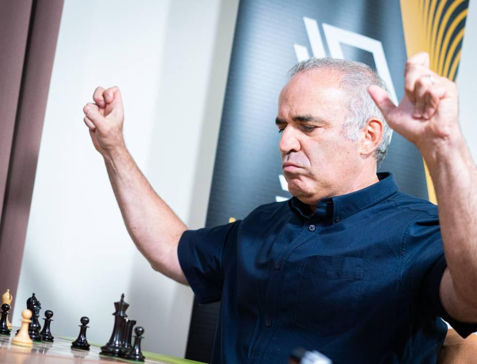 Gari Kaspárov, durante el torneo de ajedrez 960 que se disputó hace un año en el Club de Ajedrez de San Luis (Misuri, EEUU)