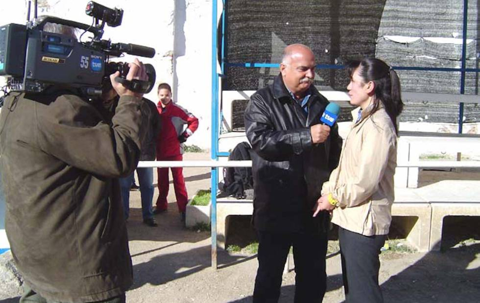 Yuriko Saeki, interviewed by TVE in 2004, when she assumed the position of coach of CD Puerta Bonita, then in the Third Division.